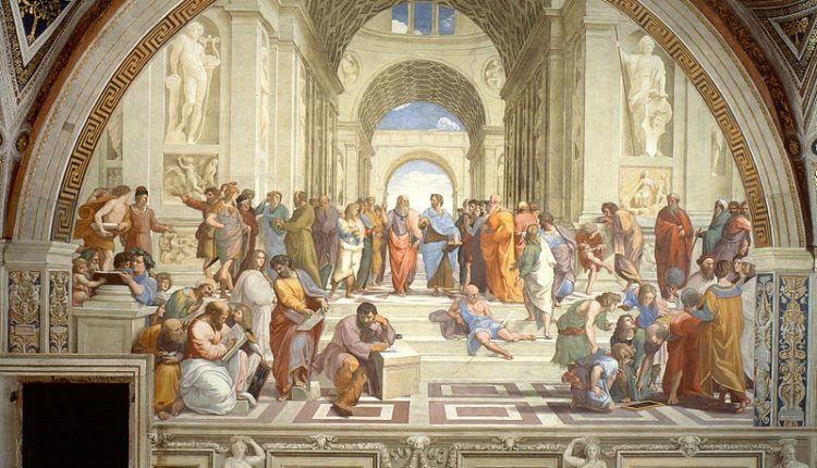 The School of Athens (Italian: Scuola di Atene) is a fresco by the Italian Renaissance artist Raphael. It was painted between 1509 and 1511 as a part of Raphael's commission from Pope Julius II --VLifeStyle.org