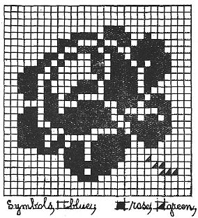Vintage Rose Bead or Crossstitch Pattern--VLifestyle.org