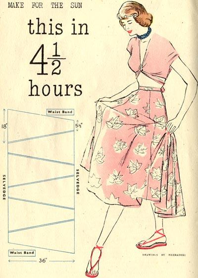 free vintage sewing skirt pattern--Vlifestyle.org
